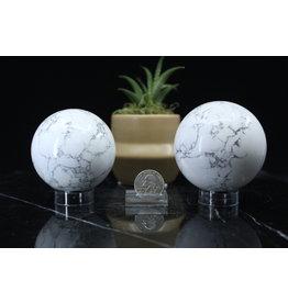 White Howlite Sphere/Orb-70mm