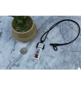 Selenite/Satin Spar w/ Chakra Crystals on Wax Cord Necklace