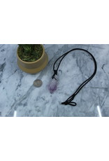 Amethyst Point on Wax Cord Necklace