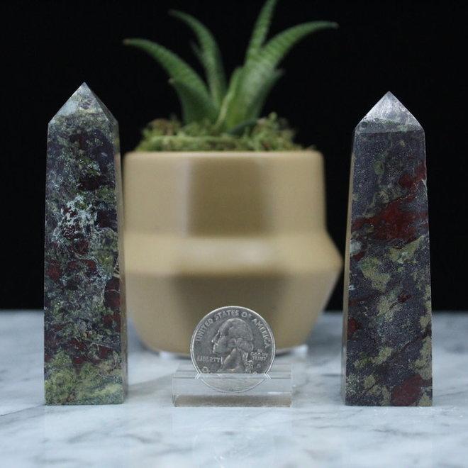 "Dragons Blood Jasper Obelisk-Medium (3-4"")"
