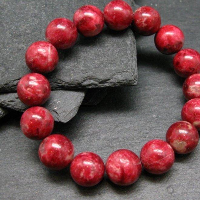 AAA Grade Thulite Bracelet - 12mm