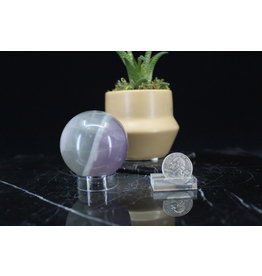 Lavender Rainbow Fluorite Sphere Orb-50mm