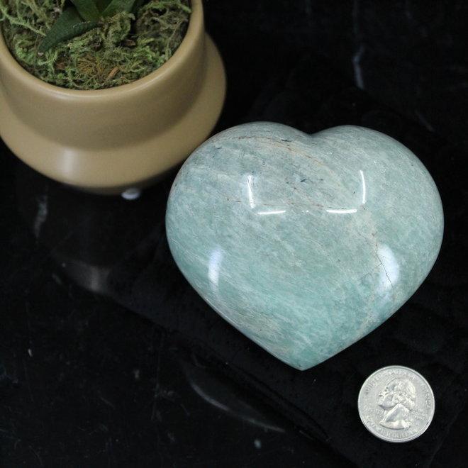 Amazonite Heart-AAA Grade Medium
