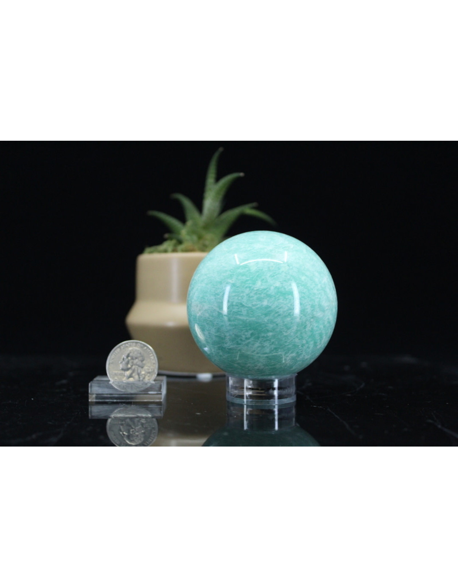 Amazonite Sphere Orb -65mm