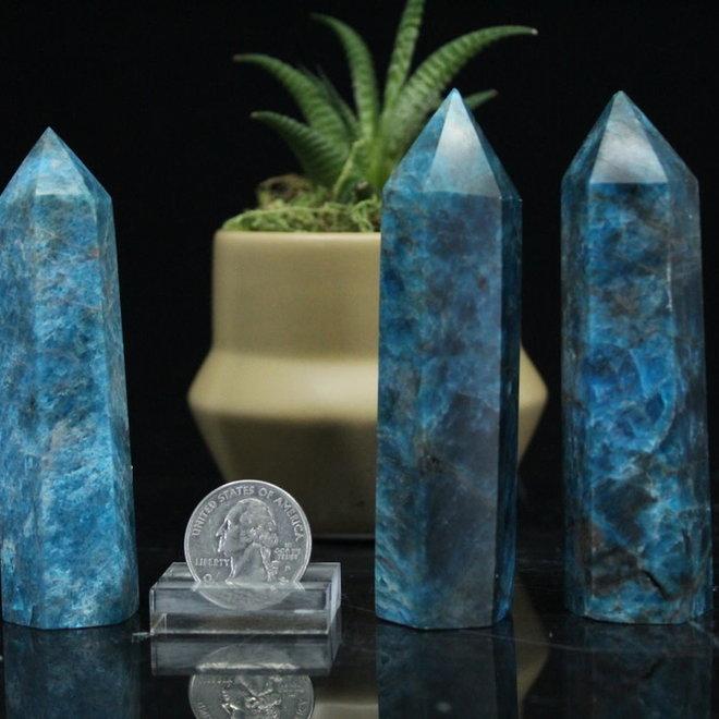 "Blue Apatite Tower Point-Medium (3-5"")"