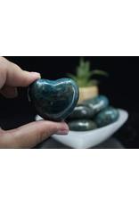Blue Apatite Heart