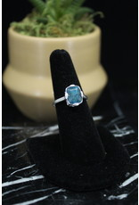 Blue Apatite Ring (Rectangle) - Size 7