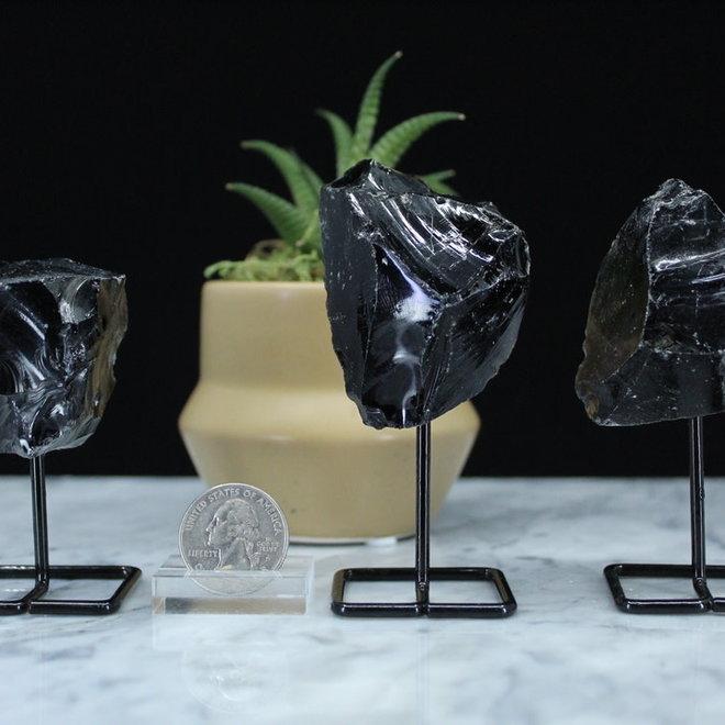 Black Obsidian on Pin