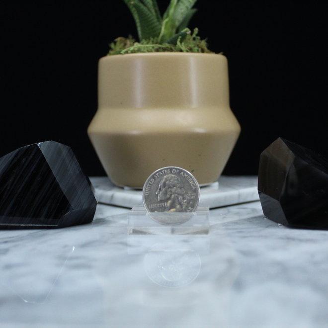 Banded Black Obsidian Free Form-Medium