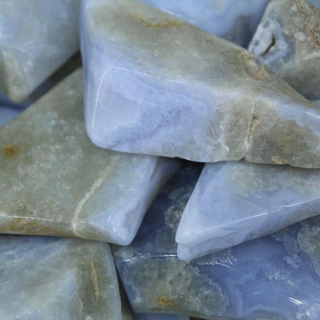 Blue Lace Agate Free Form Medium Tumbled