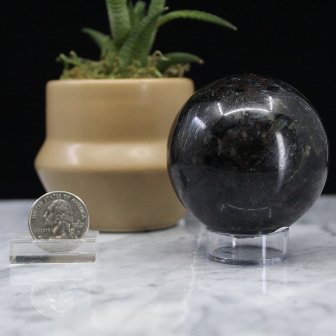 Astrophyllite/Fireworks Sphere Orb-60mm