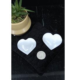 Selenite/Satin Spar Heart-Medium (50mm)