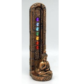 Standing Buddha Chakra Stone Incense Burner