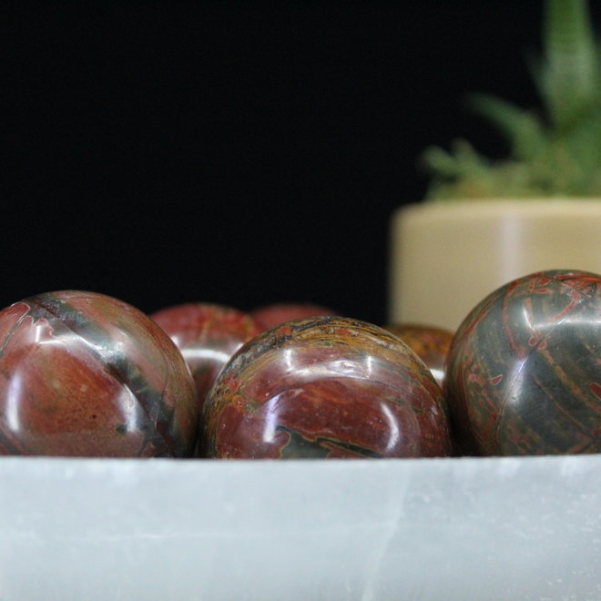 Cherry Creek Jasper Sphere Orb-35mm