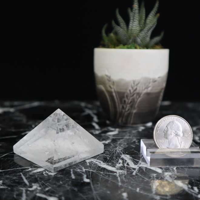 Clear Quartz Pyramid-Small/Medium