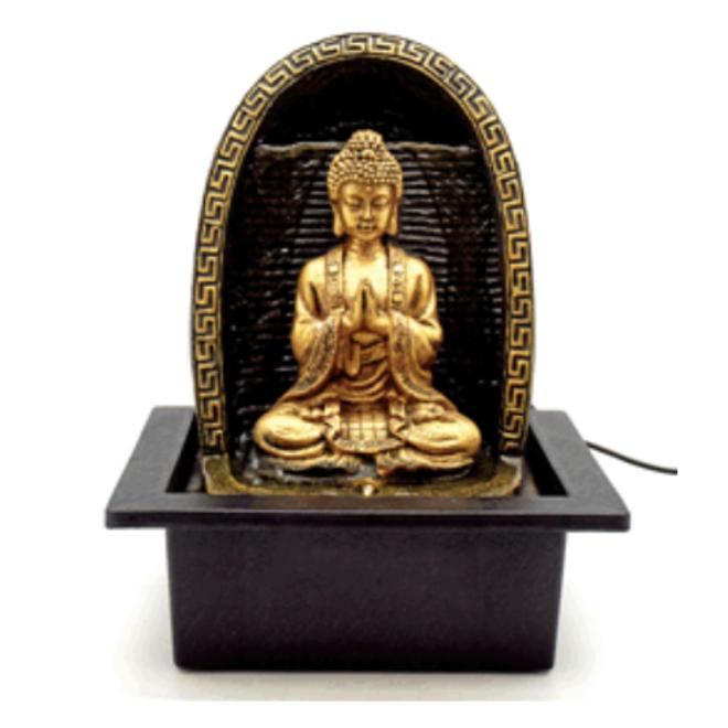 Buddha With Waterfall Fountain