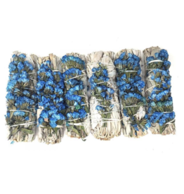 Blue Sage Stick w/Statice Sinuata