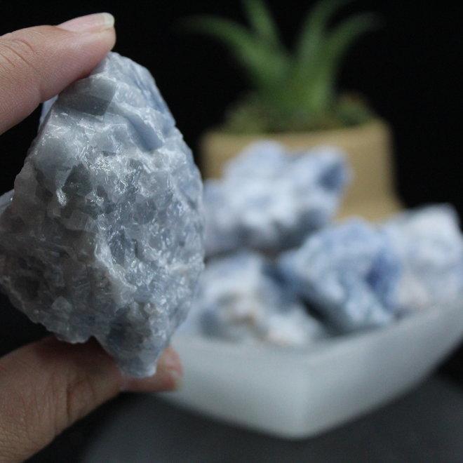 "Blue Calcite 2""-2.5"" Rough Raw Natural"