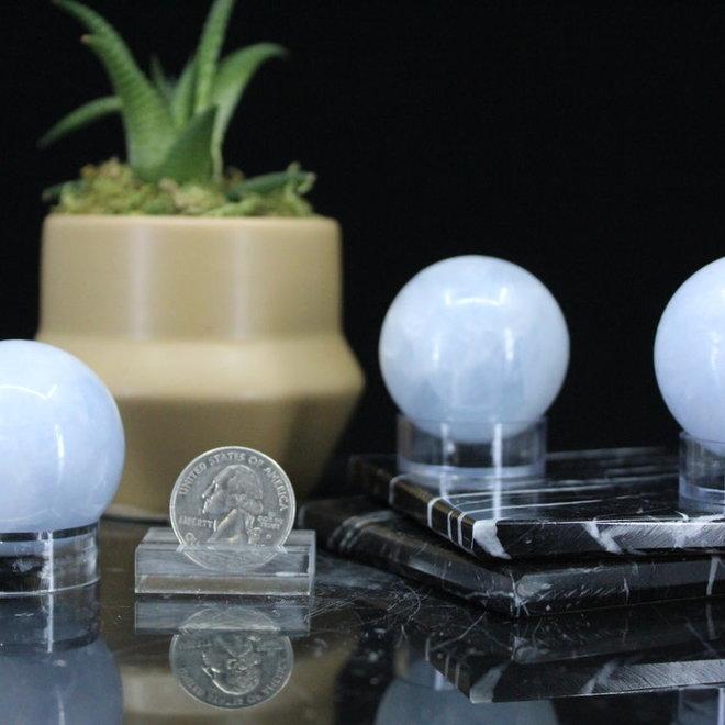 Blue Calcite Sphere/Orb-35-40mm