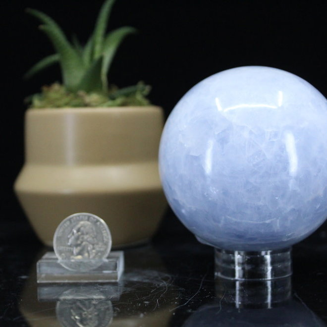 Blue Calcite Sphere Orb-75mm