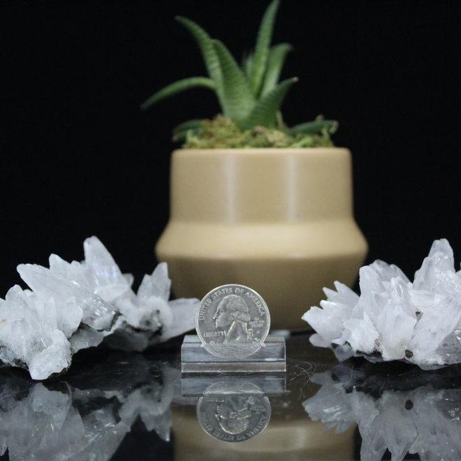 Blue Dogtooth Calcite with Pyrite Inclusions-Medium