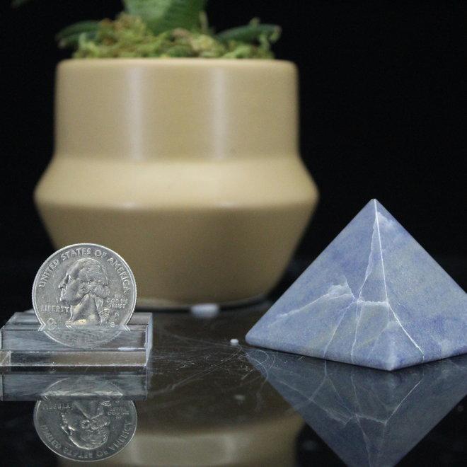 Blue Quartz Pyramid Medium
