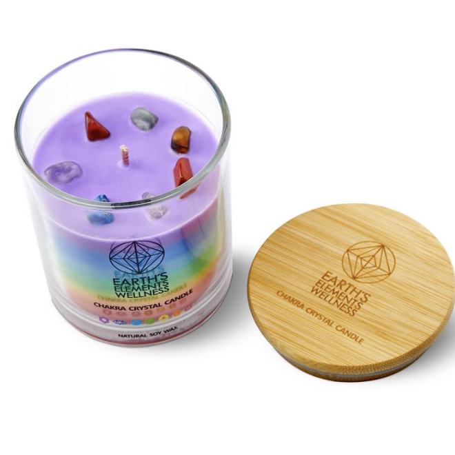 Candle - Earth Element's - 7 Chakra Soy Wax