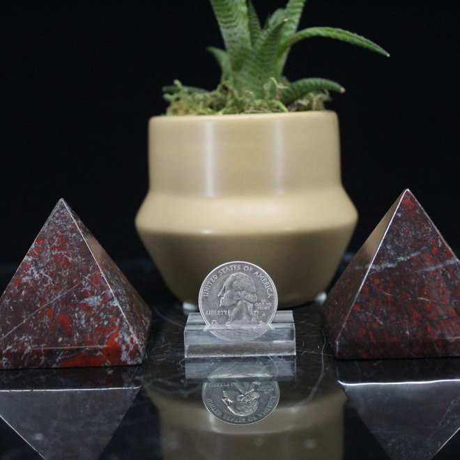 Brecciated Red Jasper Pyramid -Large
