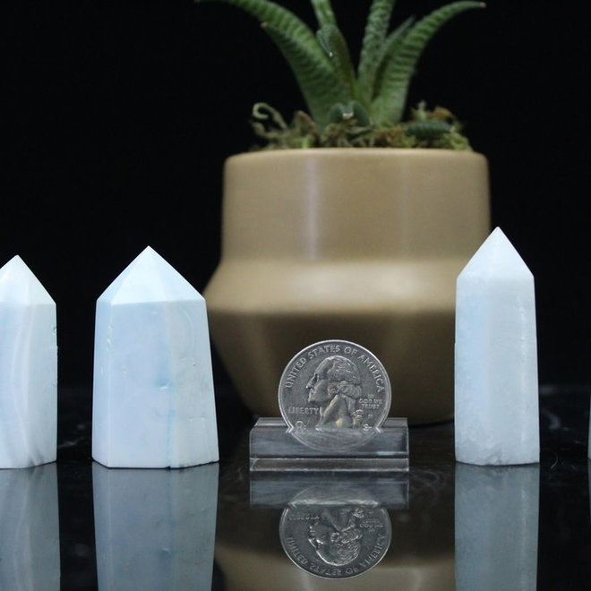 """Blue Aragonite Tower/Point -Small (2-3"""")"""