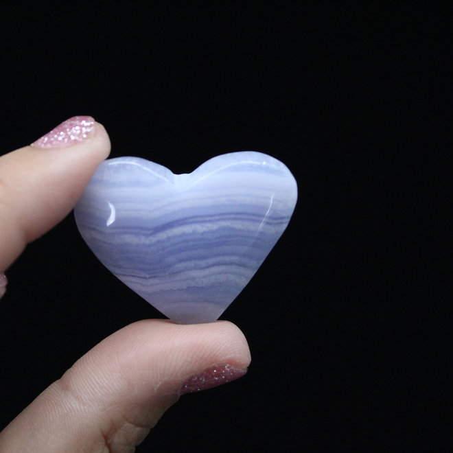 Blue Lace Agate Heart-Small