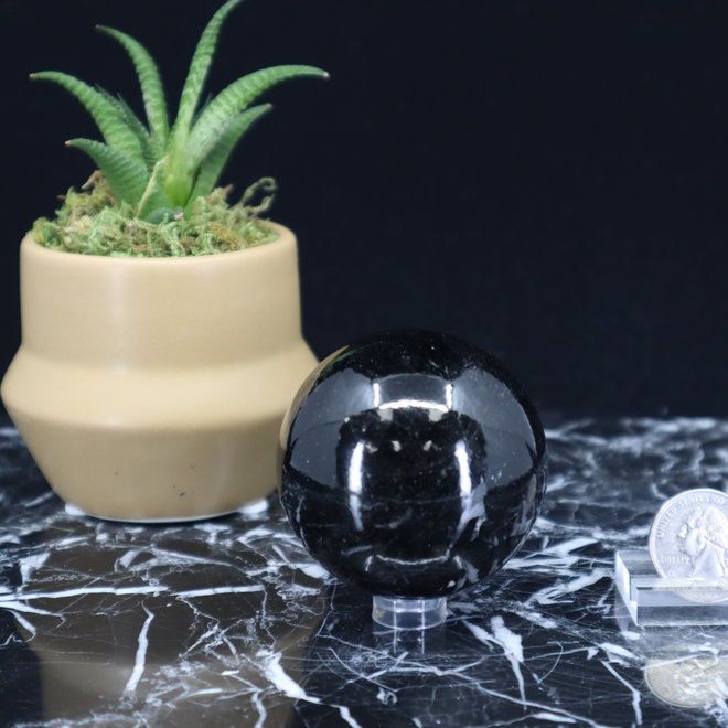 Black Tourmaline Sphere Orb-60mm