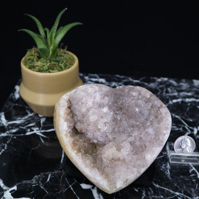 Amethyst Druzy Heart Large