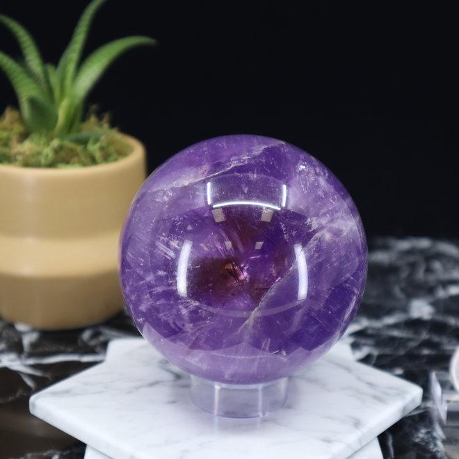 Amethyst Sphere Orb-70mm