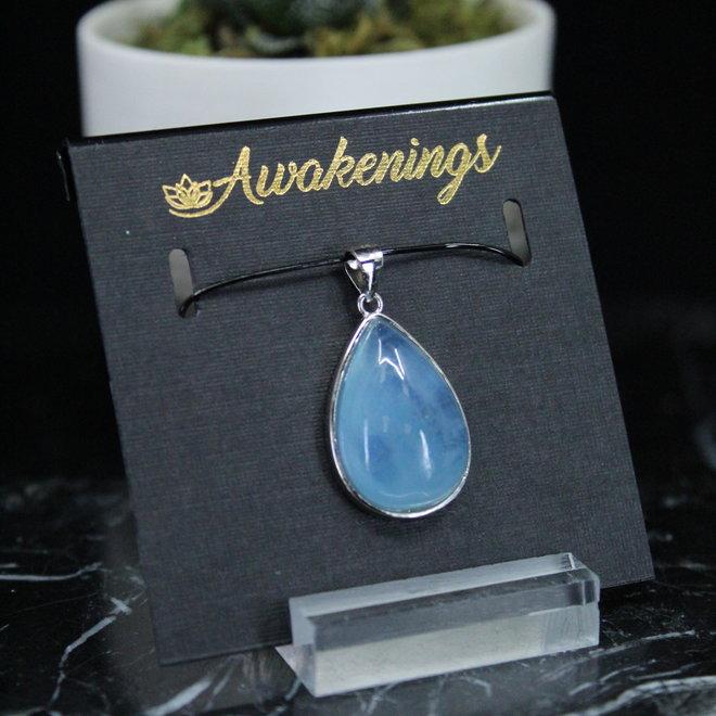 Aquamarine Teardrop Pendant