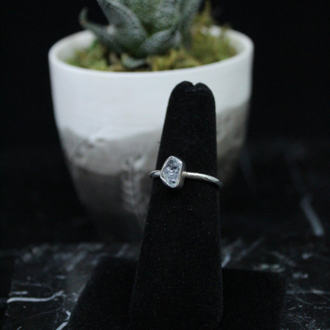 Aquamarine Ring - Size 5 - Sterling Silver