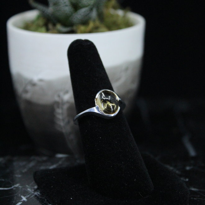 Citrine Ring - Size 6 - Sterling Silver Oval