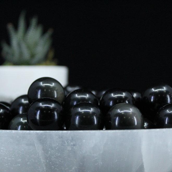 Black Obsidian Sphere Orb-15-20mm