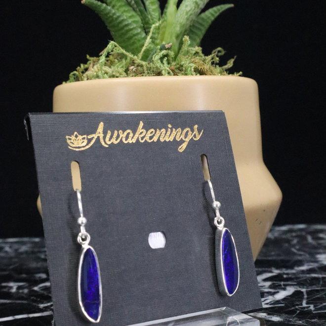 Australian Opal Dangling Earrings - Sterling Silver