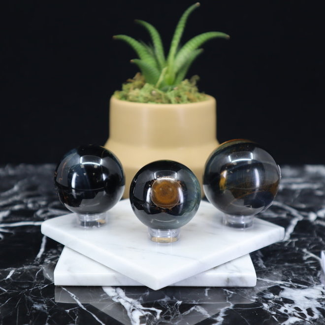 Blue Tiger Eye/Hawk Eye Sphere/Orb-35-40mm