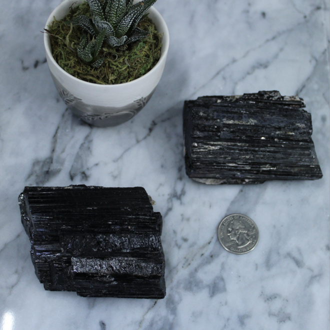 Black Tourmaline Rough, Raw Natural
