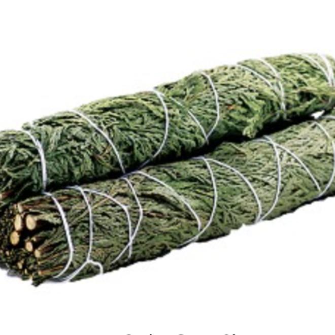 "Cedar Smudge Stick Bundle Wand - 9"""