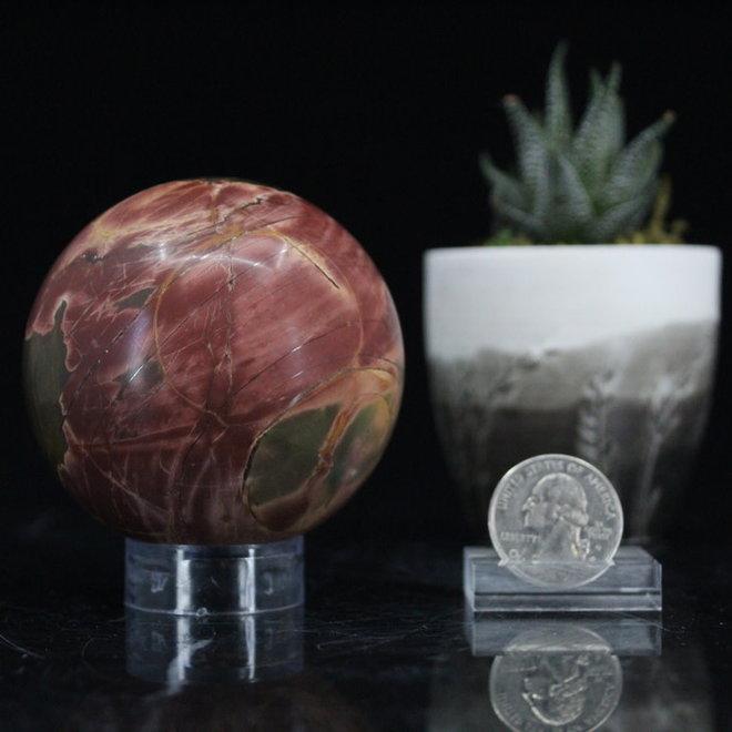 Cherry Creek Jasper Sphere Orb-65mm