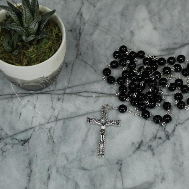 Black Onyx Rosary - 8mm