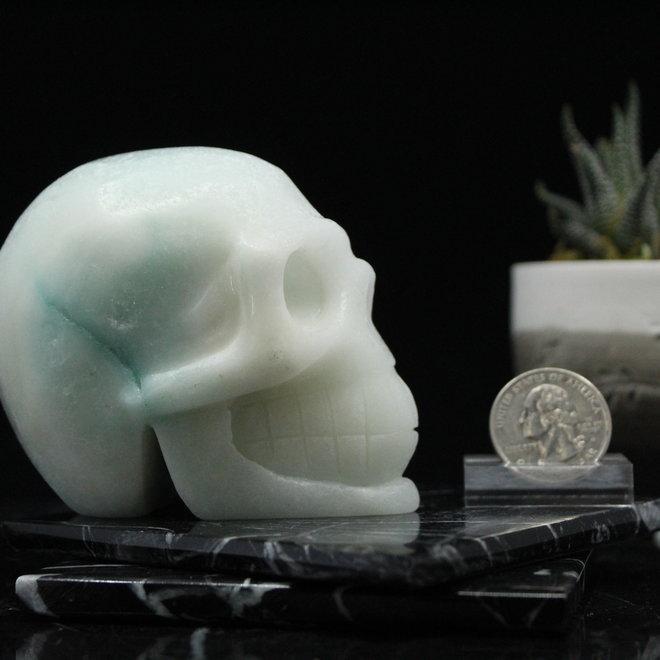 "Blue Aragonite Skull - Large - 3"" Tall"