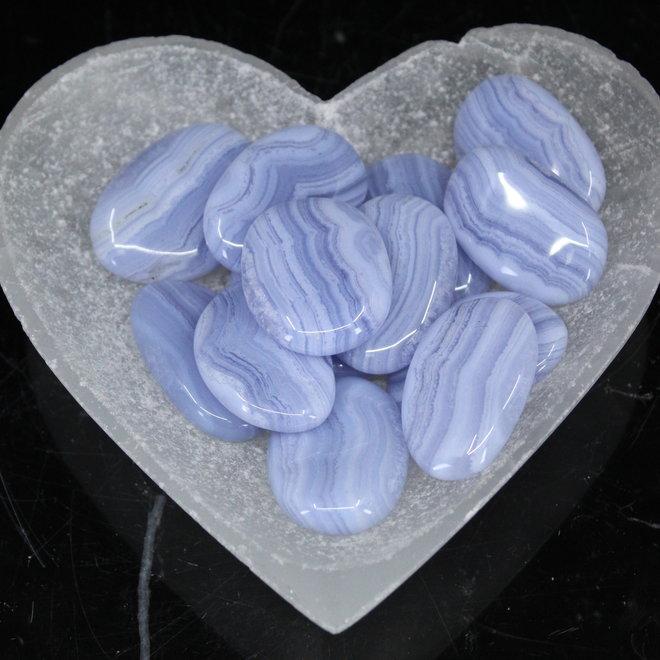 Blue Lace Agate Palm/Pillow