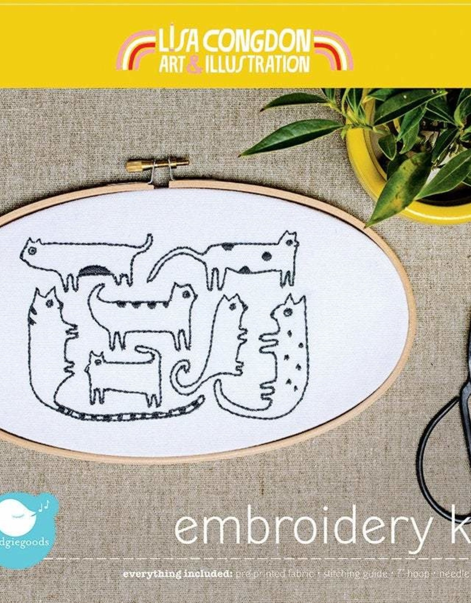 Cast Away Lisa Congdon Embroidery Kit