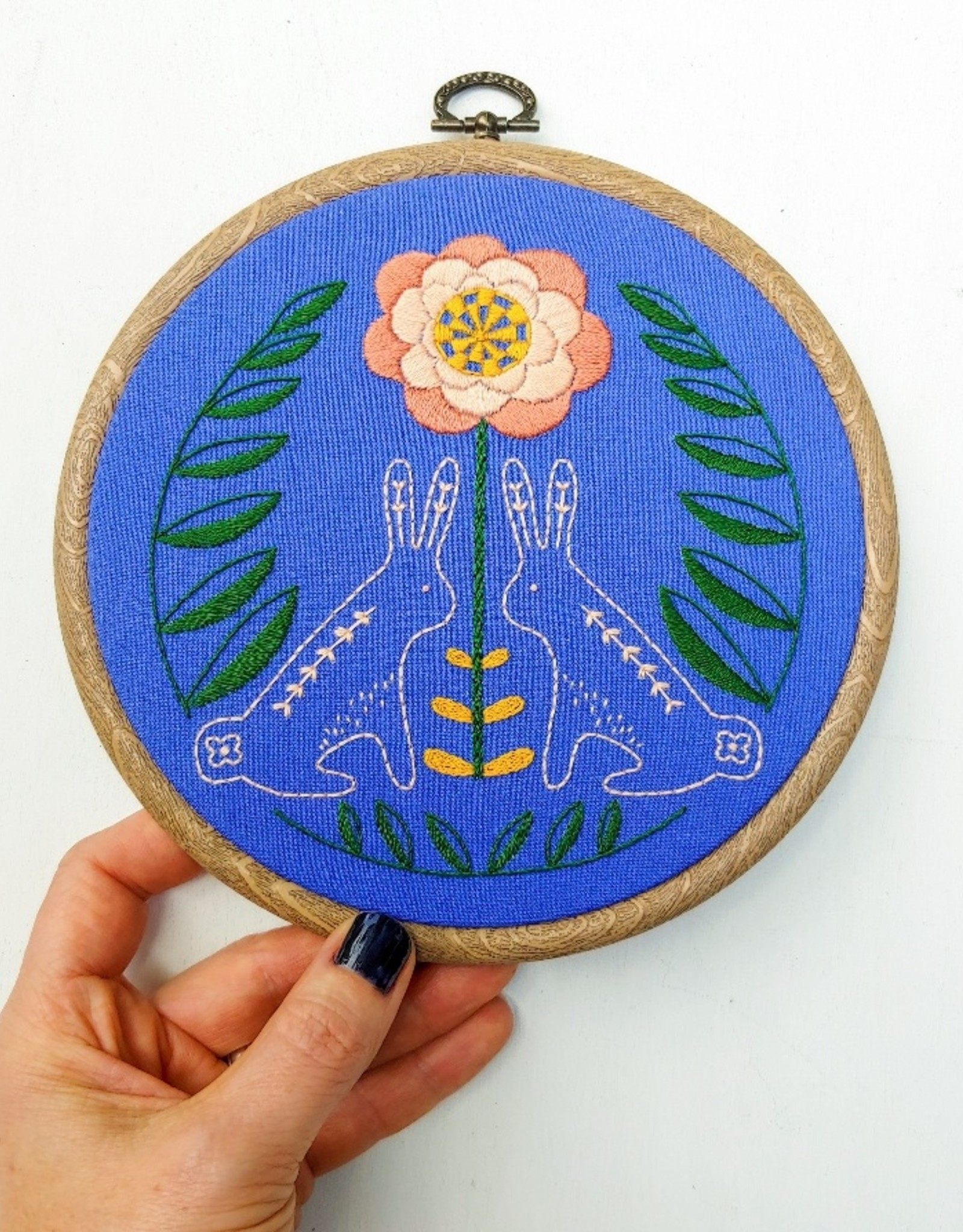 Cast Away Cozy Blue Embroidery Kit