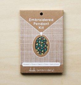 Cast Away Kiriki Press Embroidered Pendant Kit