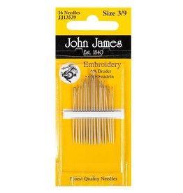 Cast Away John James Embroidery Needles 3/9