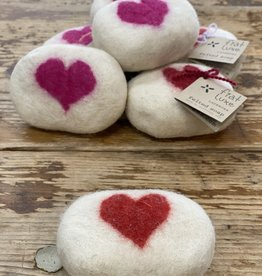 Fiat Luxe Felted Soap Heart
